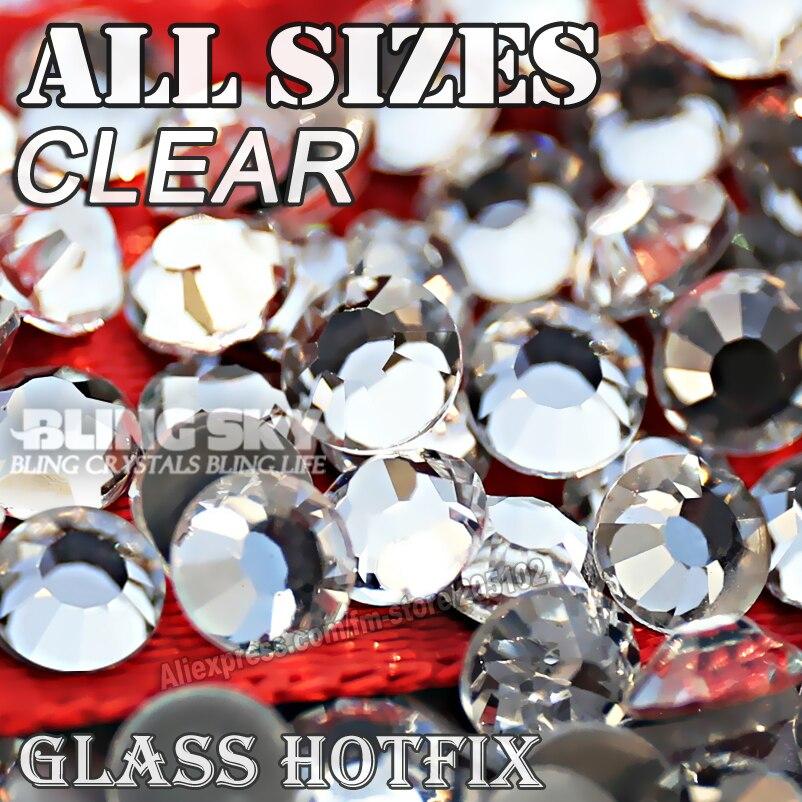 2028 AAA MINŐSÉG CLEAR SS4 SS5 SS6 SS10 SS16 SS20 SS30 Hot Fix strasszos csillogás Kristály kőköteg divat DIY ruházathoz