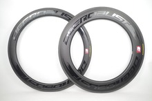 цена на [SL] U Shape 88mm 700c Superlite 495g Carbon Road Tubular Bicycle Wheel Rims Bike Wheels