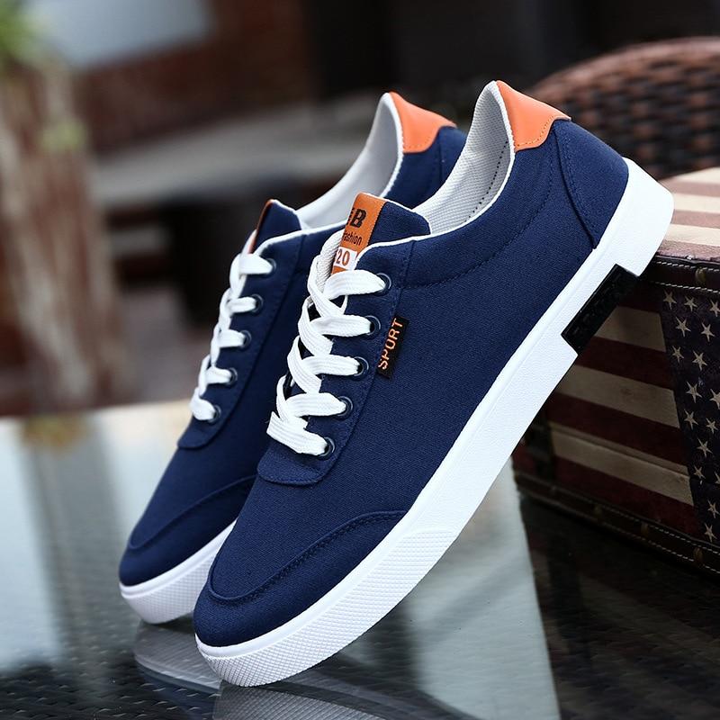 High Quality Men Canvas Shoes Spring Autumn Breathable Men's Vulcanize Shoes Espadrilles Sneakers Men Flats Shoes White Black 2A