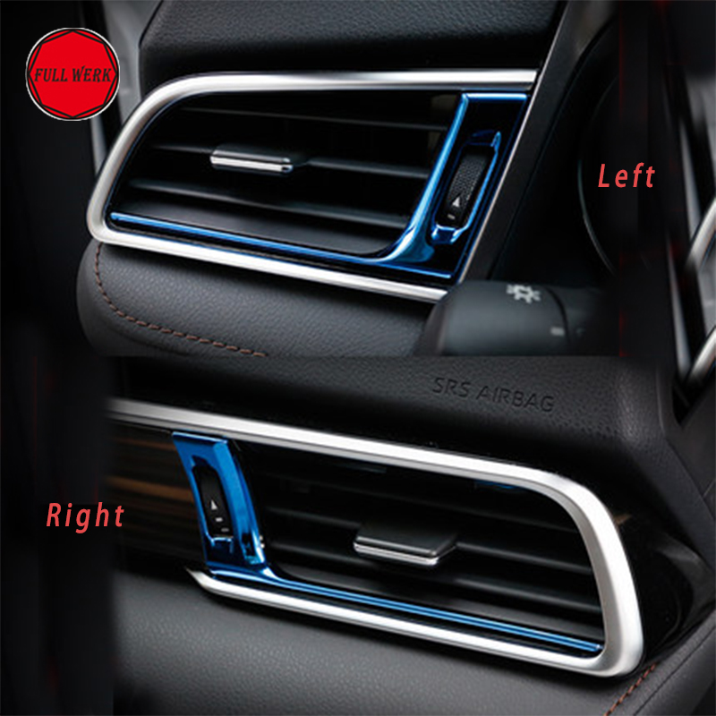 Stainless Steel Car Air Condition Vent Trim Sticker for Toyota Camry 2018 Outlet Cover Decor Auto Interior Moulding Accessories