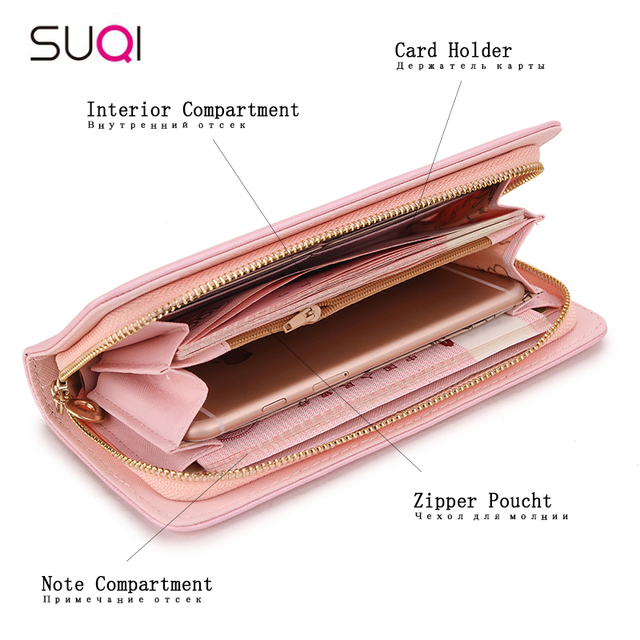 Fashion Women Wallet Long Zipper Pu Handbag Clutch Best Phone Wallet Female Case Phone Pocket Women's Purse 2