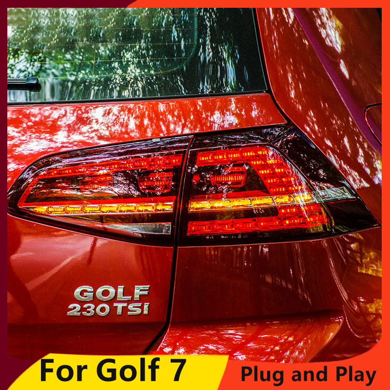 Car Styling made in taiwan for VW <font><b>Golf</b></font> 7 Taillights 2013-2017 Golf7 MK7 <font><b>LED</b></font> <font><b>Tail</b></font> Lamp Rear Lamp DRL+Brake+Park+Signal <font><b>led</b></font> <font><b>light</b></font> image