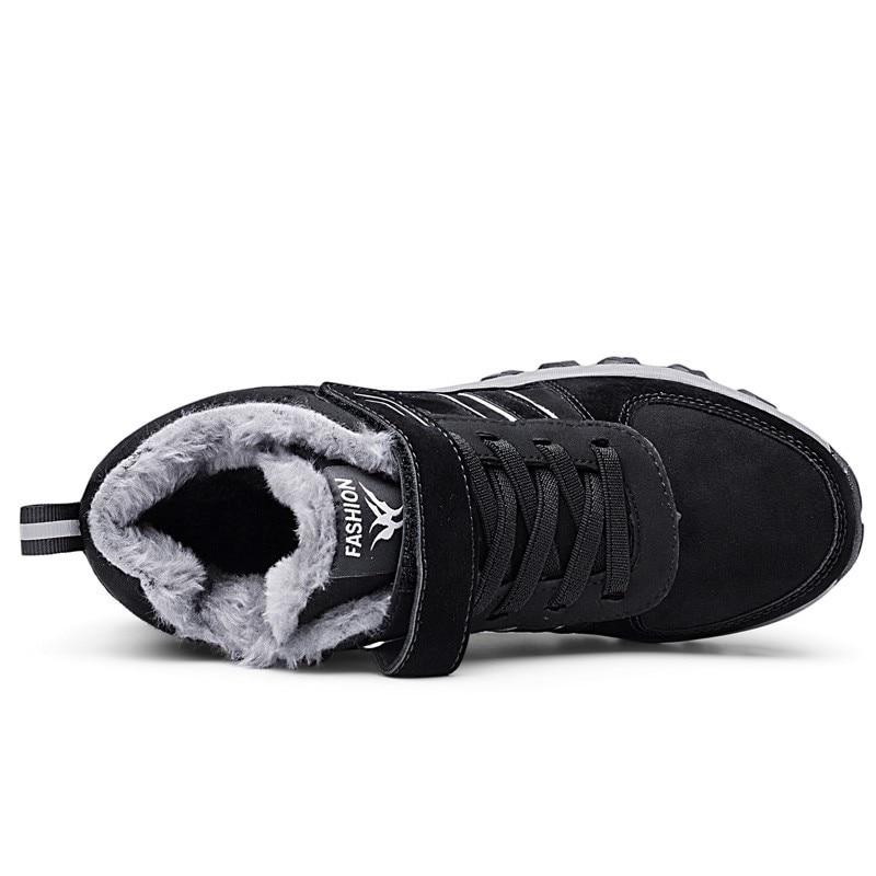 Aire púrpura Resistente Moda rosado Hombres Libre Invierno Ocasionales Nueva gris Los Zapatos Negro Antideslizante Casuales Plana Impermeable Nieve Caliente Al Calzado Para Aw661qIx