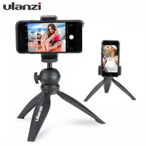 Image 1 - Ulanzi Table Top Mini Statief Smartphone Statief Bluetooth Afstandsbediening Voor Iphone X Iphone 8 Samsung Android Mobiele Vlogging