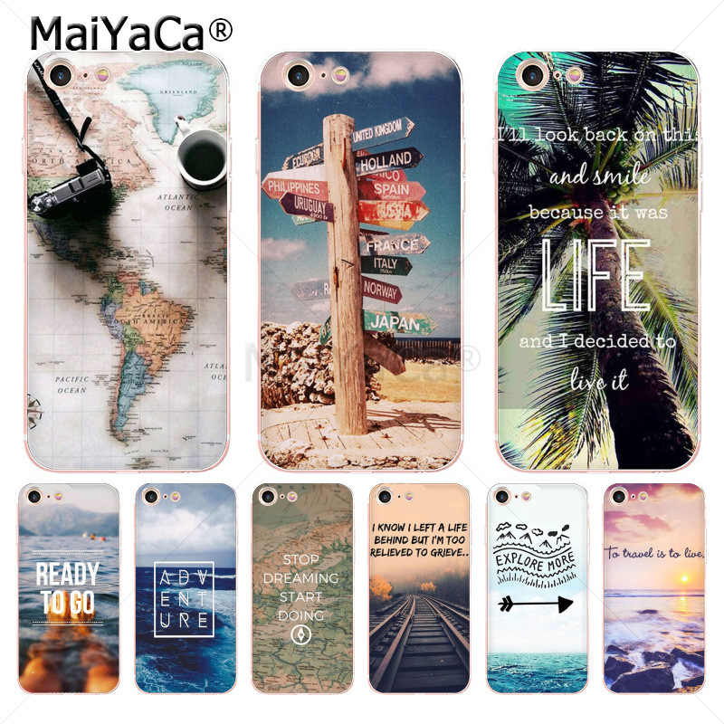 4acf0934d1 MaiYaCa Travel does the heart Traveling Aircraft soft tpu phone Case for iPhone  6S 6plus 7