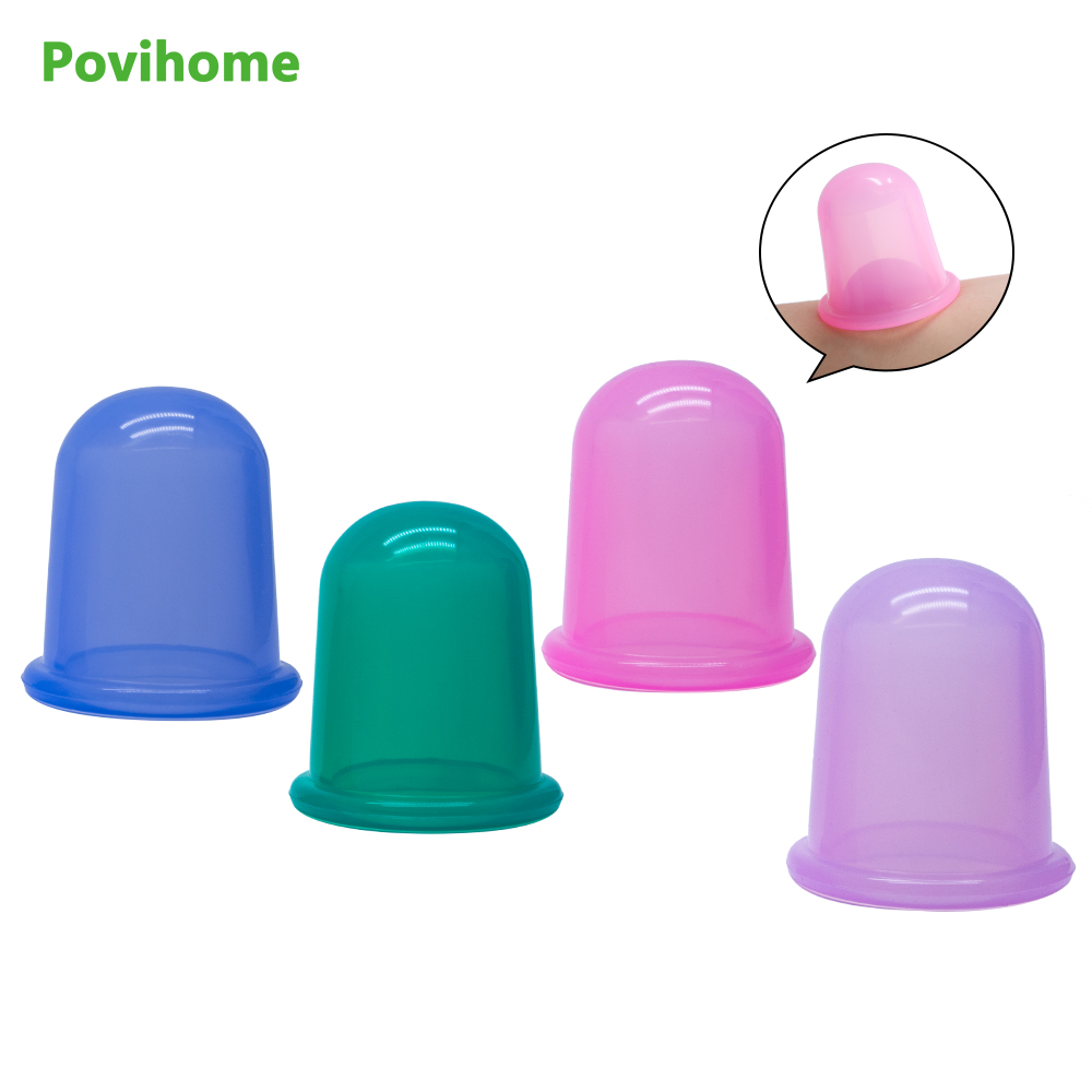 1pcs Suction Silicone Massage Cupping Anti-Cellulite Cups Facial and Body Therapy Improving Skin and Overall Health 4pcs body anti aging effect suction silicone massage cupping therapy improving skin health anti cellulite cups small size