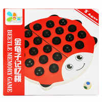 Free shipping Kids Wood Educational beetle memory chess Toy Memory game toy Wooden puzzle game Parent child desktop memory game