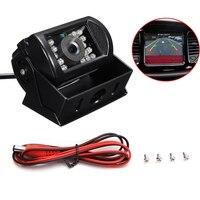 Hd ccd 120 درجة nightvision للماء وقوف السيارات الرؤية الخلفية عكس الكاميرا ل حافلة شاحنة مقطورة 12 فولت-24 فولت MA484