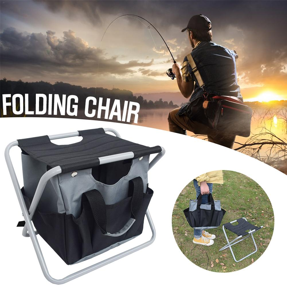 New Durable Outdoor Foldable Stool With Tool Bag Multifunctional Portable Camping Folding Fishing Stool Garden Tool ChairNew Durable Outdoor Foldable Stool With Tool Bag Multifunctional Portable Camping Folding Fishing Stool Garden Tool Chair