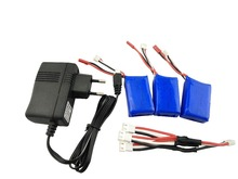 WLtoys Батарея зарядки 7.4 В Зарядное устройство с 3×1100 мАч 25c Батарея зарядный кабель для RC автомобиль Запчасти a949 A959 a969 A979 L959