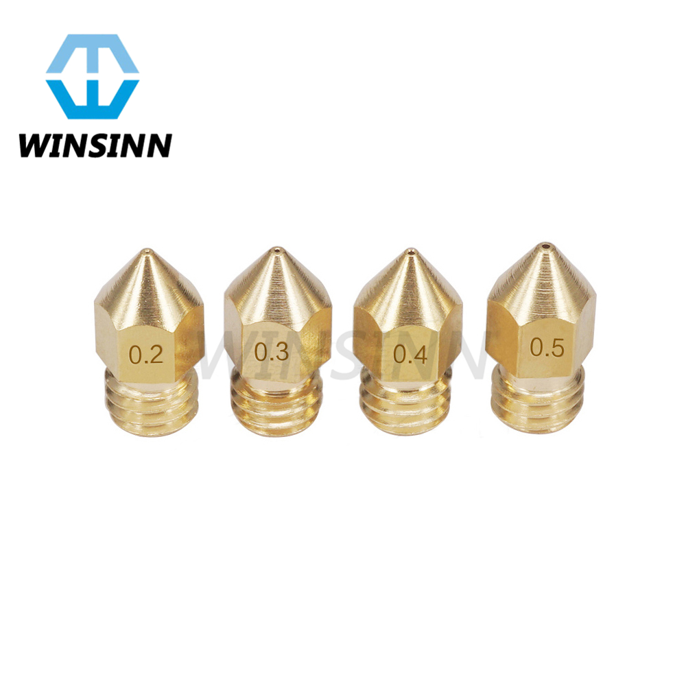5Pcs 3D Printer Brass Copper Nozzle Mixed Sizes 0.2//0.3//0.4//0.5//0.6//0.8//1.0 Extr