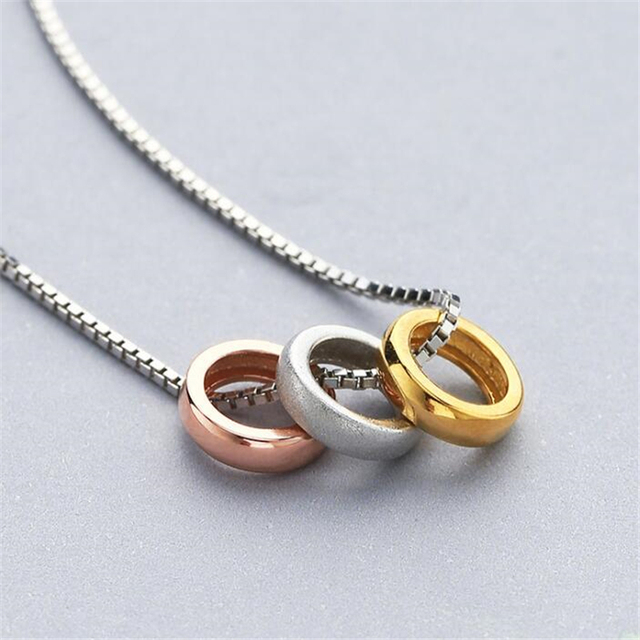 27ee03d601 100% Silver 925 Necklace Shiny Round Charms Necklace Sterling Silver Jewelry  Fashion Necklaces   Pendants Woman 925 Sterling