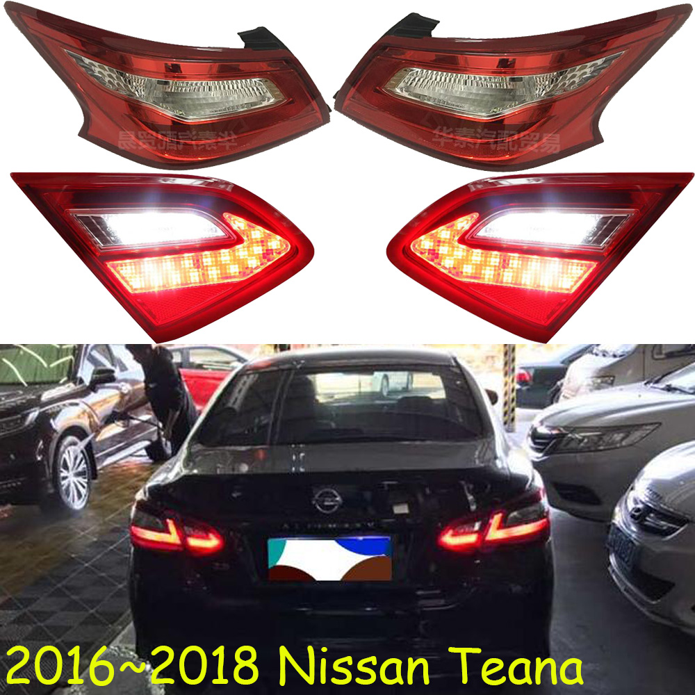 1pcs Car Bumper Taillamp For Nissan Teana Taillight 2016 2017 2018y Car Accessories Tail Lamp For Teana Rear Light Altima