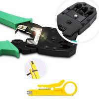 Crimpadora de Cable de red profesional Lan rj45 rj11 con crimpadora de Cable crimpadora de red de PC Herramientas manuales Herramientas