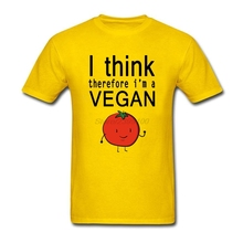 """I Think therefore I'm a Vegan"" men t-shirt"