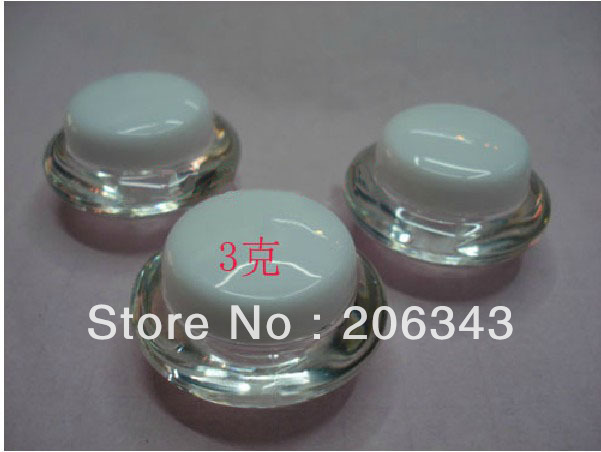 Free shipping 3g   cream bottle,cosmetic container,eyeshadow container,power container,cream jar,Cosmetic Jar,Cosmetic Packaging