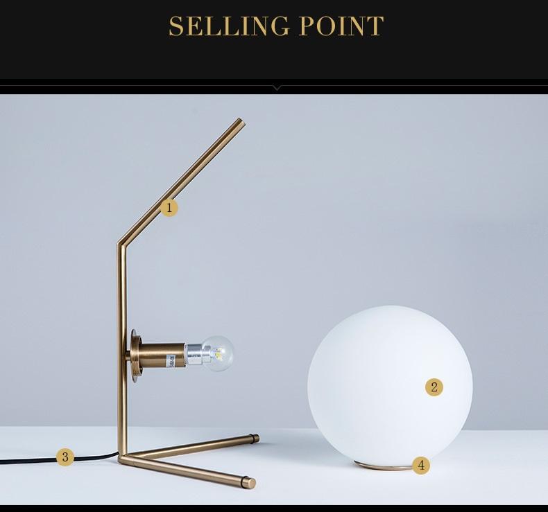 Modern LED Table Lamp Desk Lamp Light Shade Glass Ball Table Lamp Desk Light for Bedroom Living Room Floor Conner Gold Designs (10)