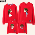 Famli 1pc Family Sweatshirts Mom Kids Dad Son Autumn Winter Casual Cotton Printed Matching Hoodies Outfits Mother Dauther Set