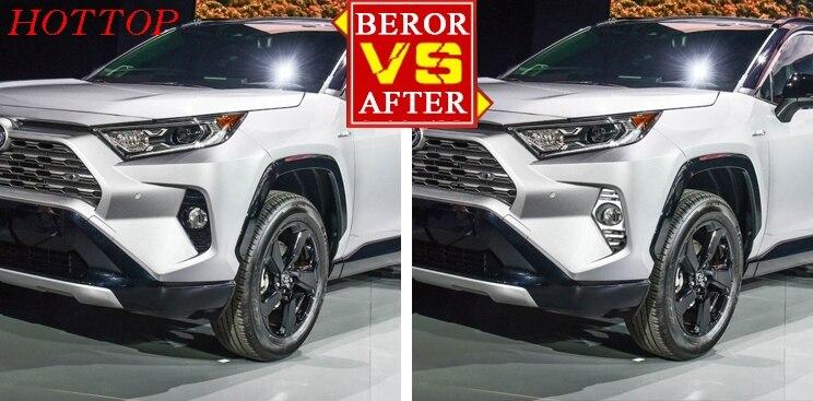 2 pièces/ensemble Chrome voiture arrière/avant brouillard lumière couvercle de la garniture pour Toyota RAV4 2019 2020