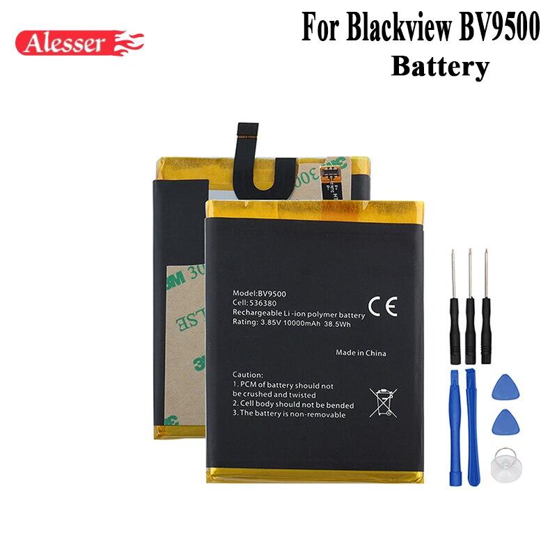 Alesser pour Blackview BV9500 batterie 10000 mAh 100% nouveau remplacement accessoire accumulateurs pour Blackview BV9500 Pro batterie + outilAlesser pour Blackview BV9500 batterie 10000 mAh 100% nouveau remplacement accessoire accumulateurs pour Blackview BV9500 Pro batterie + outil