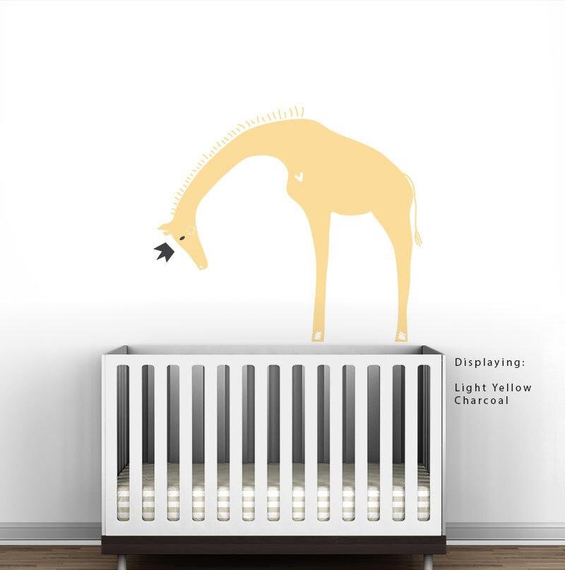 Queen Giraffe Wall Decal Royal Safari Wall Stickers Vinyl Removable Wall Decor Modern Baby Kids Playroom Murals Wallpaper A241 Giraffe Wall Decals Wall Decorsafari Wall Stickers Aliexpress