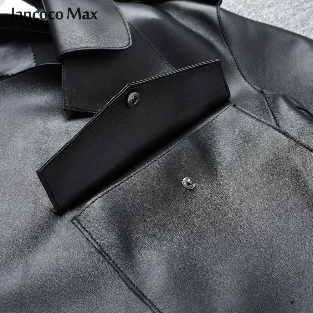 Image 5 - Women's Real Sheepskin Leather Jackets Top Quality Genuine Leather Coat Fashion Jackets Lady New Arrival S7547-in Leather Jackets from Women's Clothing