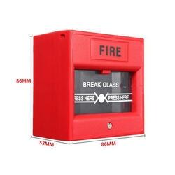 5 шт./лот красный разбить стекло кнопку 2-провода обычных руководство точка вызова пожарной сигнализации