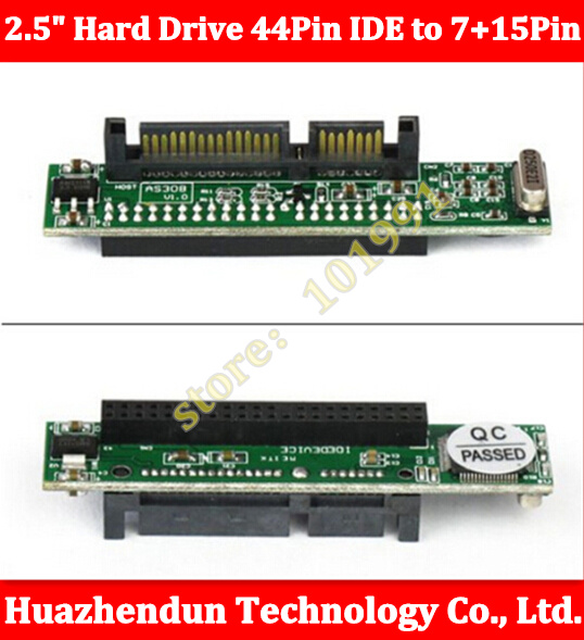 Laptop 2.5 Hard Drive 44Pin IDE Female to 7+15Pin 22Pin SATA Male Adapter Converter Notebook