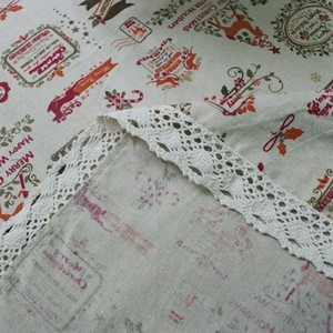 Image 4 - Nordic Christmas Table Cloth Cotton Linen Lace Edging Happy Holiday Kitchen Dining Table Cover Xmas Table Decor New Year Party
