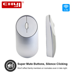 CHYI Wireless Mouse Mute Silent Click Button 1600DPI USB Optical Computer Gaming Mice Ergonomic Mause For Xiaomi Notebook Gamer