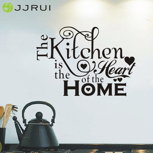 Jjrui Kitchen Heart Home Quote Wall Stickers Art Dining Room Removable Decals Diy Sticker