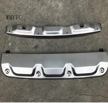 High quality stainless steel Front & Rear Bumper Skid Protector Guard 2pcs forHonda CRV CR-V 2012 2013 2014 Car Styling