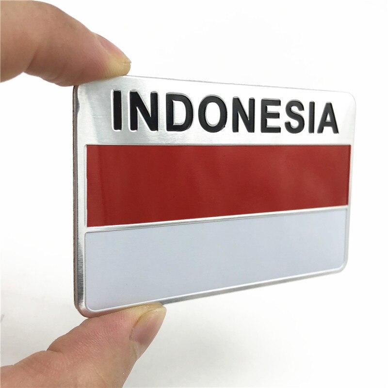4 x flag decals sticker bike scooter car vinyl helmet motorcycle indonesia bali