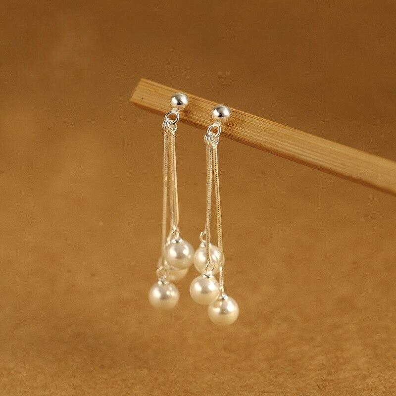 Perle gland perle Europe et les états-unis exagéré boucles d'oreilles pour les femmes 925 argent sterling