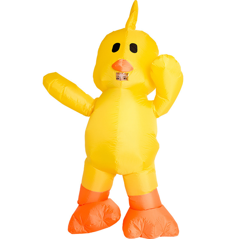 Yellow Duck Inflatable Costume For Adult Christmas/Halloween/Birthday/Make-up Party Fun Toys Dress Up Cosplay Suits Outfit