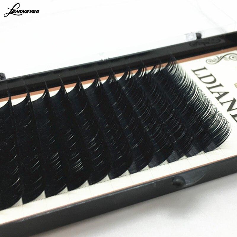8mm10mm/12mm/14mm Mixed Size Mink Individual False Eyelashes Fake Lash Semi Permanent Extensions M02685