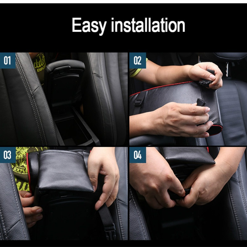 Image 5 - Autoleader PU Leather Car Armrest Pad Universal Auto Armrests Car Center Console Arm Rest Seat Memory Foam Rest Pillow Armrest-in Armrests from Automobiles & Motorcycles