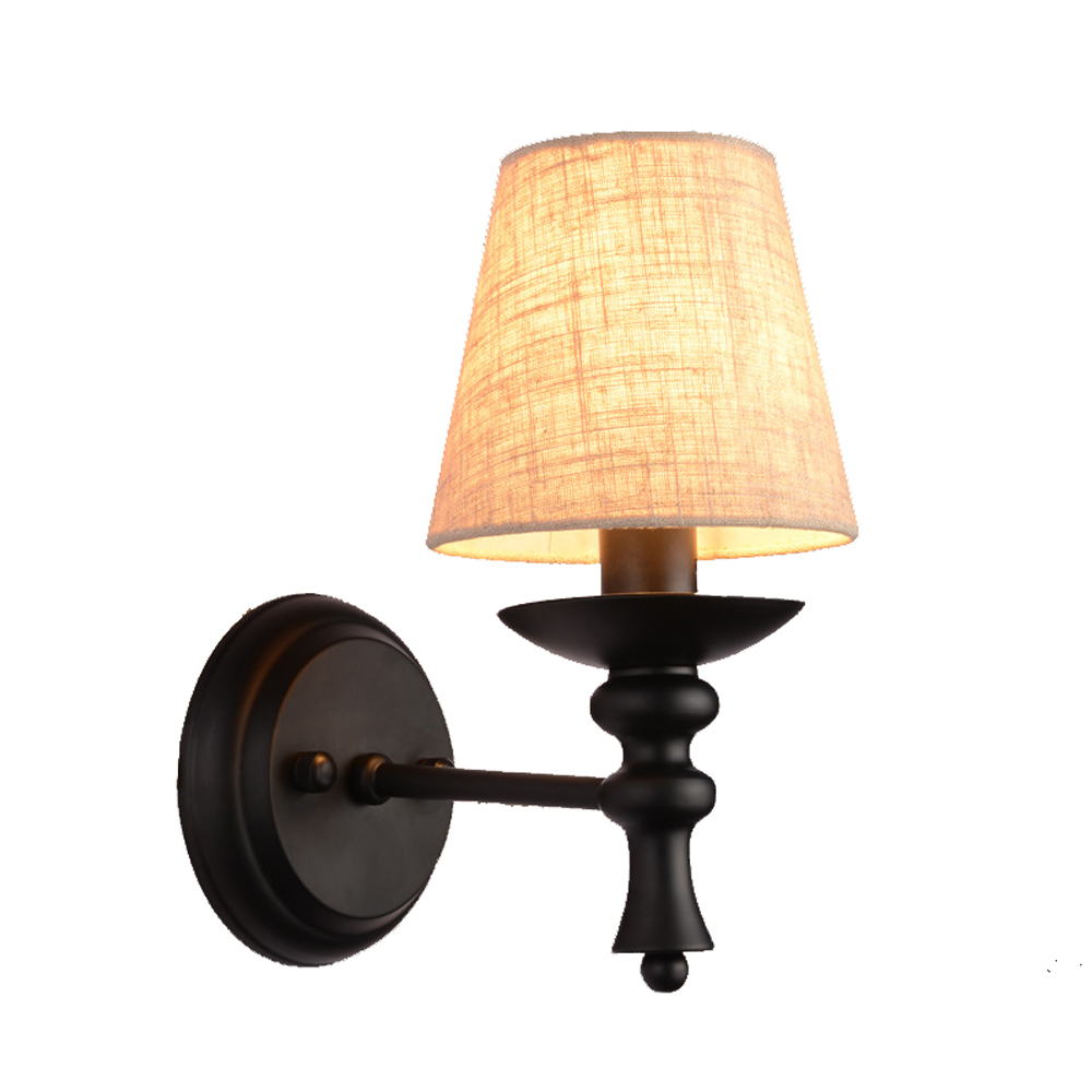 European style modern wall lamp American country bedroom bedside wall light simple living room aisle lamp single head sconce modern lamp trophy wall lamp wall lamp bed lighting bedside wall lamp