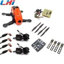 rc Robocat 4-Axis Carbon Fiber Quadcopter Frame CC3D 2204 Motor 12A ESC props ~Orange drone with camera diy dji phantom 3