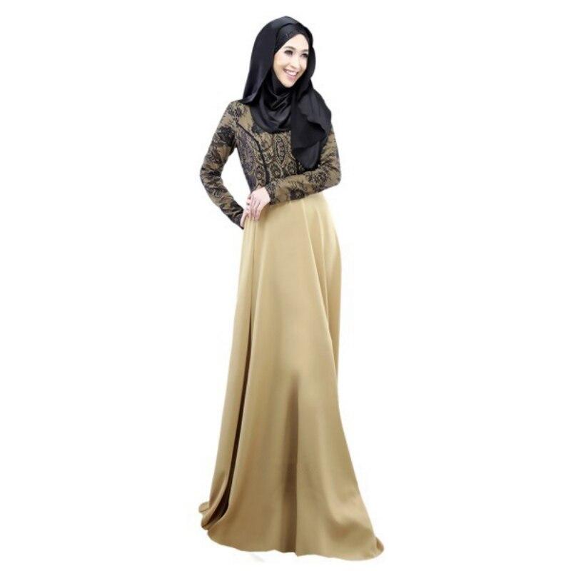042ed1707fe Fashion Kaftan Abaya Women Muslim Dress Cocktail Long Sleeve Vintage Maxi  Islamic ...