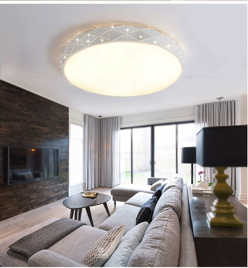 Lights & Lighting Cheap Sale China White Fabric Led Ceiling Lights Round E27 Dia 45cm 50cm Ceiling Lamps Hanging Lamps For Foyer Hotel Home Lighting F112