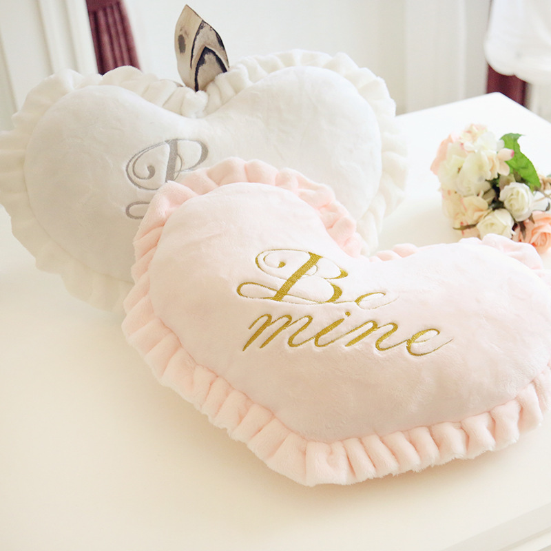 Heart Is Lovely Pillow Pink Princess Birthday Gift Wedding Gift Good PPT Cotton New Hot Sale Cushion XTY350