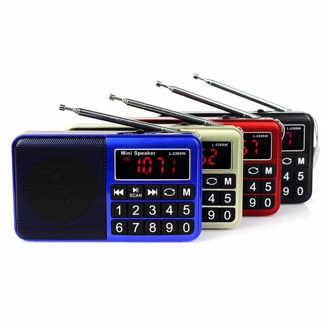 Портативный Цифровой Радио FM/AM/SW Приемник с Mp3-плеер Мультимедиа Mini Speaker Radio Recorder FM Y4199