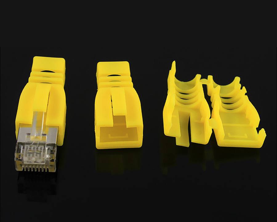 rj45 connector rj45 sheath cap network connectors plug  protective sleeve for cat5 cat5e cat6 Card buckle ethernet cable