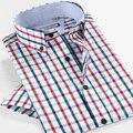 Smart Five Mens Shirt Short Sleeve Summer New Style 100 Cotton Slim Fit Brand Clothing  Camisa Masculina 5XL 6XL