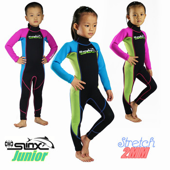 SLINX 2mm Neoprene Boys Girls Diving Suit Keep Warm  full body wetsuit Snorkeling Kids Clothes