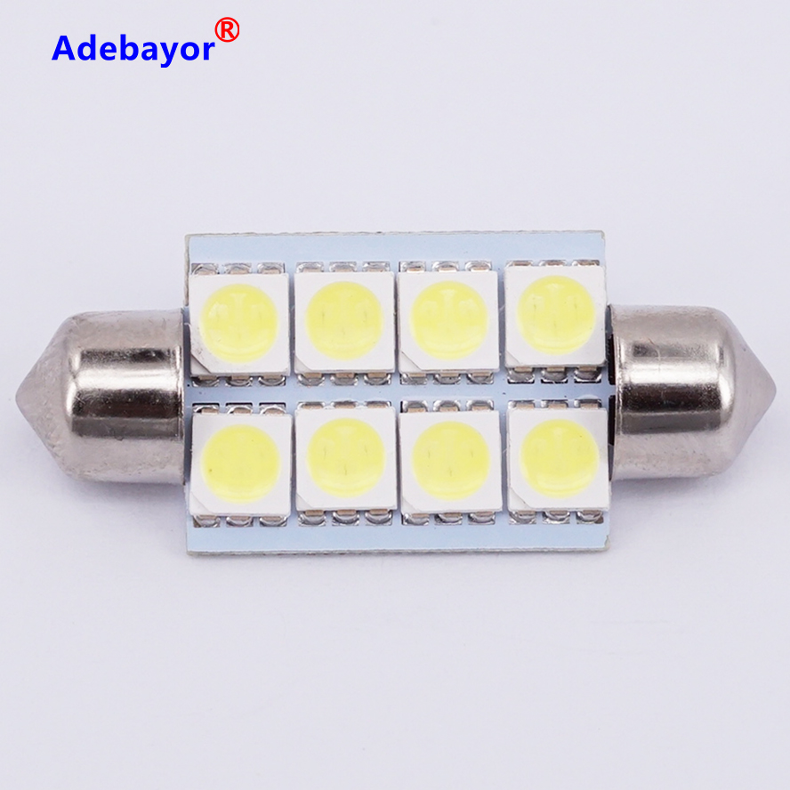 US $6.88 |10 x Car Auto Interior 8 LED 41mm 5050 SMD Festoon Dome Light LED Licence Plate Roof Car Light 12V White free shipping|auto interior|car