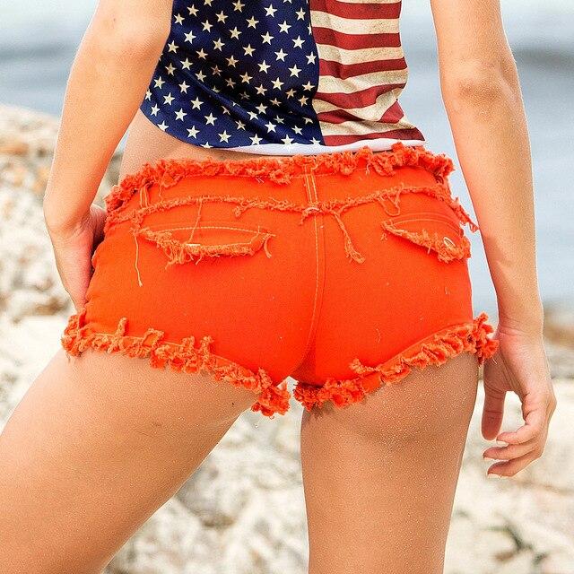 1pcs Womens Sexy super denim shorts 2019 Summer denim cotton small pocket shorts Ladies Skinny Sexy club super short jeans Girls 5