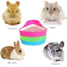 Pet Cat Rabbit Corner Toilet Litter Trays Small Animal Hamste Clean Indoor Pet Litter Training Tray
