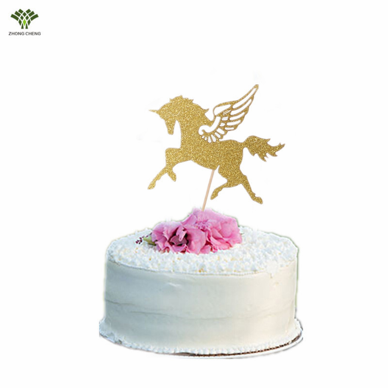 10pcs Horse Unicorn Cake Topper Picks Wedding Decoration Baby Shower Birthday For Kids Party Supplies13 13cm In Decorating Supplies From